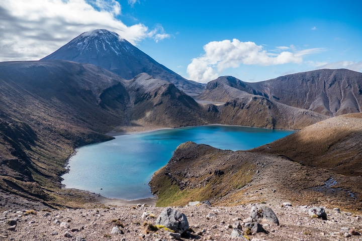 Tama Lakes Walking, Mount Ngauruhoe - New Zealand