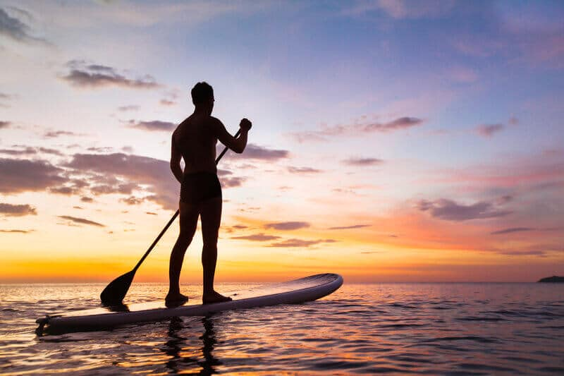 paddle boarder at conference facilities national park